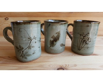 Handmade Coffee Mug | Mugs | Ceramic Mug | Pottery Mug | Gardener Mug | Tea Mug | Coffee Cup | Coffee Mugs | Stoneware Mug | Gift for Mom