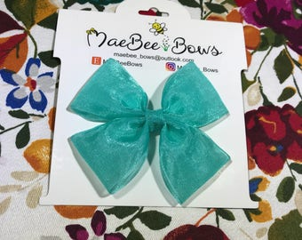 Turquoise bow