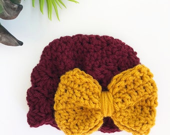 Crochet Infant Hat - Adoption Fundraiser - Booties NOT included