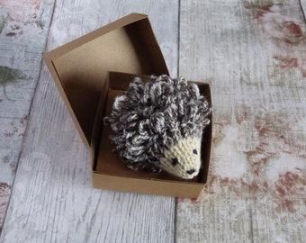 Hedgehog Brooch, Hand Knitted Hedgehog, brooch, Nature, Wildlife,Handmade, Wool