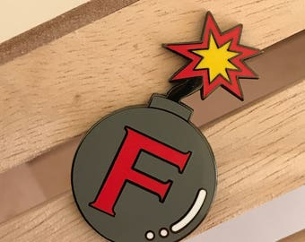 F bomb enamel pin, hard enamel pin, enamel pin set, sweary enamel pin, rude enamel pin, enamel lapel pin, crafty enamel pin