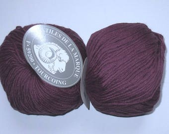 5 balls fifty 806 purple Merino Wool