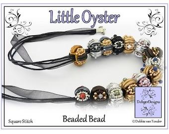 Beading Pattern, Tutorial, Beaded Bead - LITTLE OYSTER