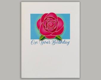 Rose Beauty Birthday Card//Birthday card//Greeting Card//Pretty birthday card//Card for her