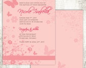 Pink BUTTERFLY BAPTISM Ch...