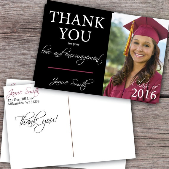 graduation thank you card thank you graduation card thank