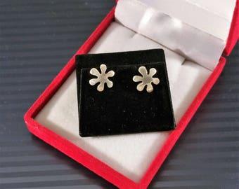 Earrings flower Flowers vintage rar silver 925 SO297