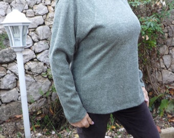 Pullover long jersey wool color trend
