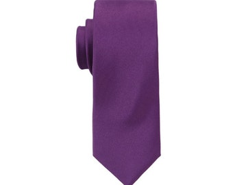 Dark Purple Ties.Solid Purple Ties. Purple Silk Ties. Skinny Ties.Wedding Ties.