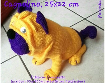 Dog, amigurumi, handmade, gift, party, toys, puppets, dolls, animals, pug, dog, children, adults, babies