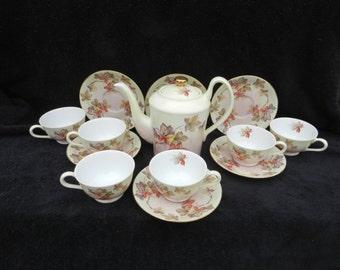 Tea Service: Hand decorated porcelain