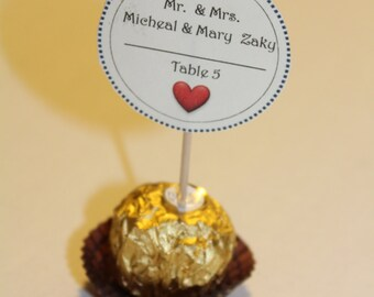 Ferrero Rocher Chocolate Place cards Perfect for any Event