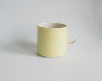 Handmade Stoneware Mug Yellow Pottery Mug Mothers Day Gift Yellow Cup Ceramic Mug Coffee Mug Coffee Cup Handmade Pottery Mug Tea Mug