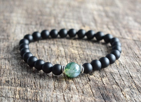 at moss agate beaded buddha gemstone azilaa healing full bracelet