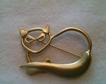 Vintage Cat Eye Pin - FREE SHIPPING