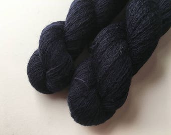 Reclaimed Lace Yarn - Wool - Navy