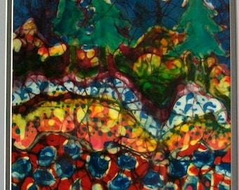 Forest Mystery     Original batik painting