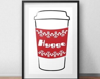 Hygge Print, Hygge Wall Art, Danish Design, Nordic Decor, Nordic Style, Danish Art, Danish Print, Scandinavian Print, Typography Art Print