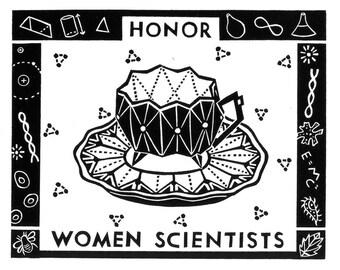 5 Postcards - Madame Curie Teacup