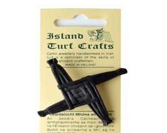Irish Turf St. Brigid's Cross Brooch 2'' [T25-J10]