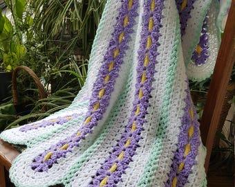 Purple Pansy Baby Blanket