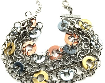 Cuff Bracelet Chain Multi Strand Bracelet Hardware Jewelry