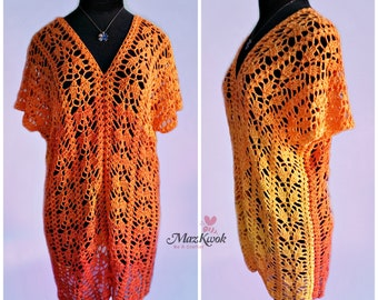 Crocheted Delicate top - free worldwide shipping