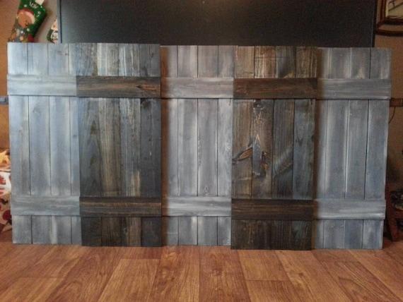 Wooden Shutters Exterior Farmhouse
