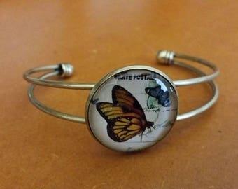 Bronze Butterfly bangle bracelet only