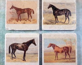 Marble coasters - Vintage horses
