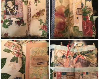Altered book journal - scrapbook with pockets