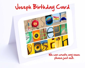 Joseph Personalised Birthday Card
