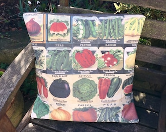 40cm Vintage Seed Packet Cushion