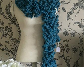 SALE PRICE Handmade scarf in lovely fancy yarn