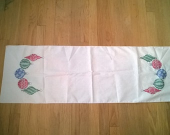 Hand sewn Christmas table runner