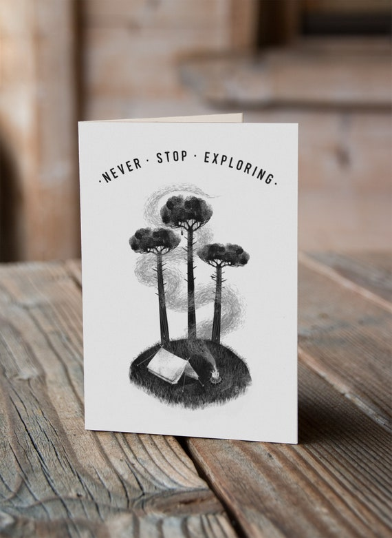 Three Pines - Greetings Card
