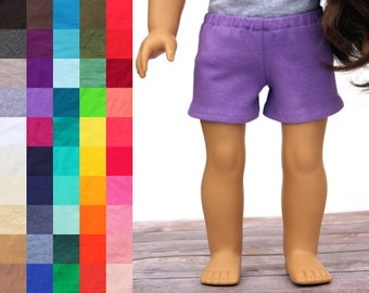 Fits like American Girl Doll Clothes - Knit Shorts, You Choose Color | 18 Inch Doll Clothes
