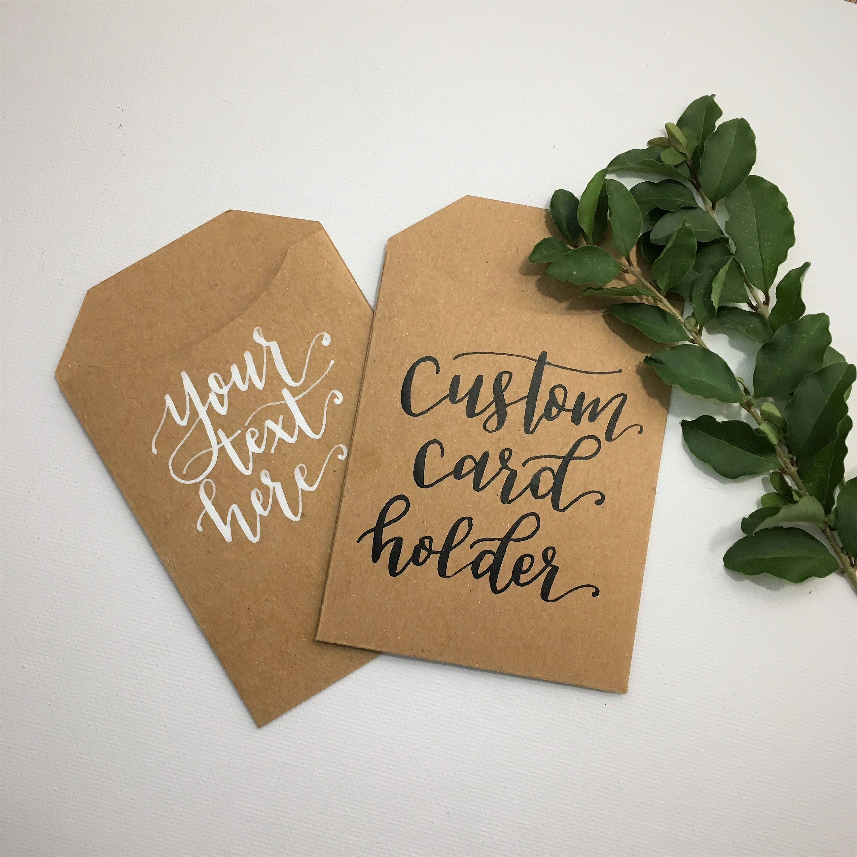 Custom Calligraphy Gift Card Holders Any Occasion Hand