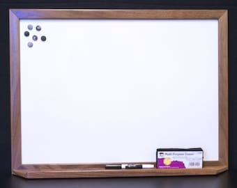 Large Framed Magnetic Dry Erase Board Whiteboard w/ Tray - Bulletin Board - Magnet Board - Family Command Center - Message Board White Board