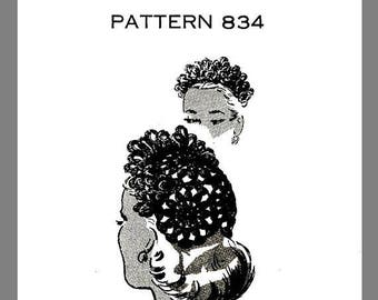 PDF Vintage Mail Order Women's Hat And Purse Set Crocheting pattern One size # 834 Copy/ Reprint PDF Delivery