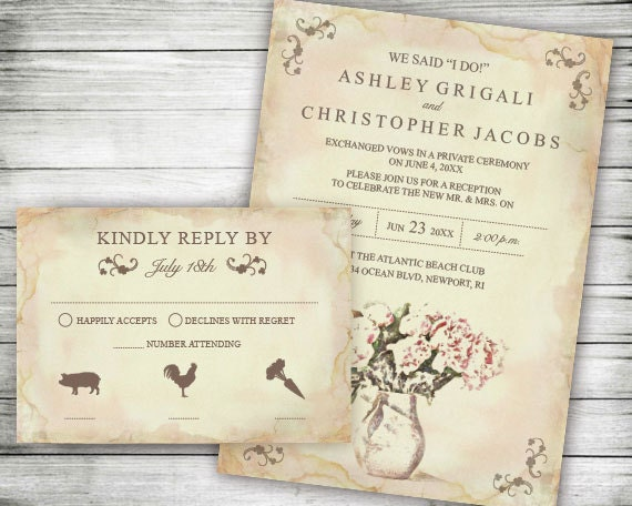 Elopement Wedding Reception Only Invites We Said I Do
