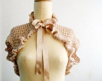 Victorian Shrug Crochet Bolero Crocheted Shrug Wedding Bridal Wrap