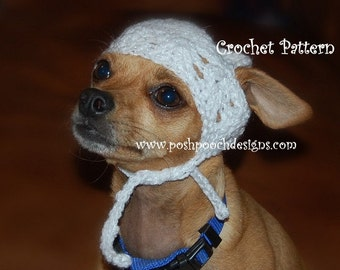 Instant Download Crochet Pattern- Kufi Dog Hat - Small Dog beanie