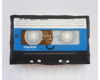 """Decorative Pillow, Cassette Tape Pillow, Vintage, Retro, Old School, Mix Tape, 80's, Geek Pillow, Room Decor, Dorm Decor, Toys, 9 x 6"""""""