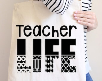 Teacher Tote Bag - Teacher Bags - Teacher Totes