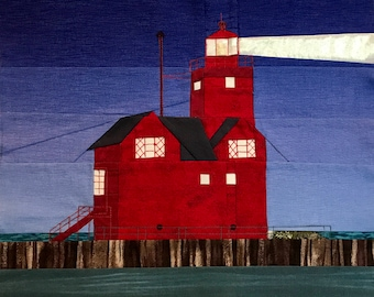 Big Red, Holland, MI Lighthouse quilt pattern