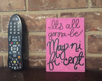 Magnificent, Elbow, Lyrics, handpainted, hand lettered 5x7 canvas panel