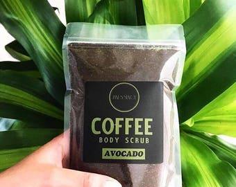 Boxing Day Sale! Avocado Organic Natural Exfoliating Coffee Scrub Body Skincare 250g