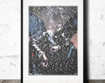 Travis Scott Goosebumps Birds in the Trap Lyric Poster Print - A4 Limited Edition