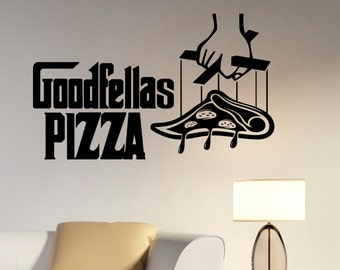 Goodfellas Pizza Logo Wall Decal Vinyl Sticker Window Sign The Godfather Movie Art Decorations for Italian Restaurant Kitchen Cafe Decor pz4